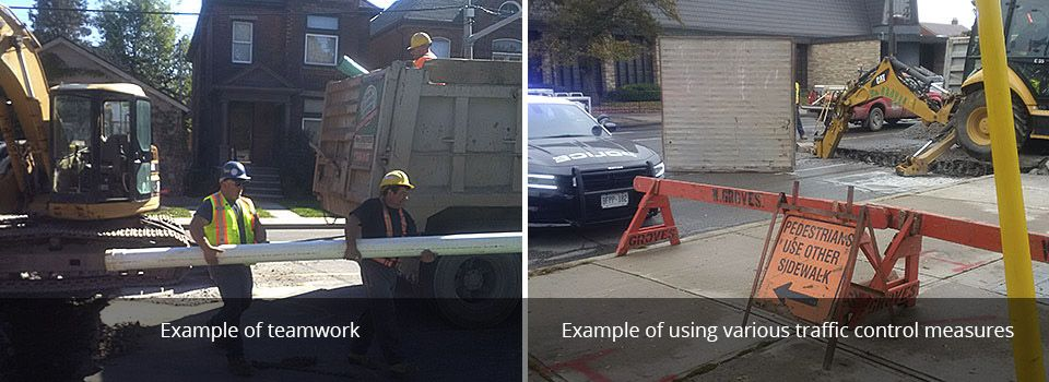 example of team work | example of using various traffic control measures