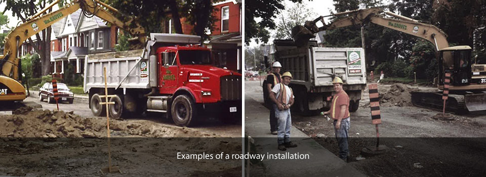 Example of a roadway installation