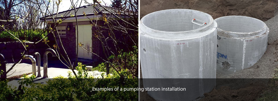 Examples of a pumping station installation
