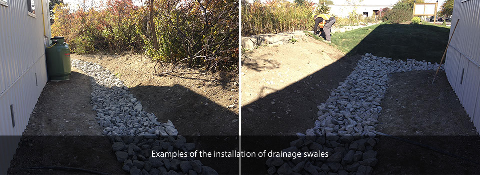 drainage swales