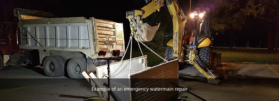 emergency watermain repair