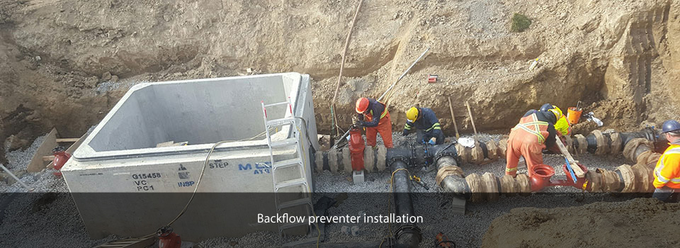 Backflow preventer installation