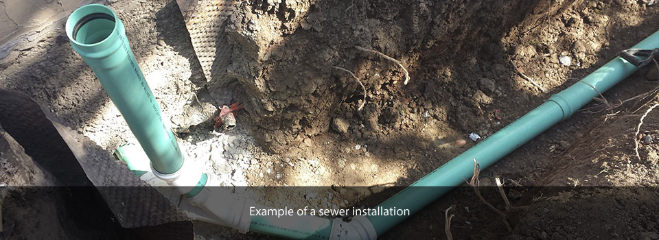 Example of a sewer installation