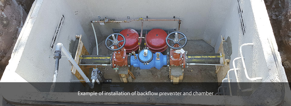 backflow preventer and chamber